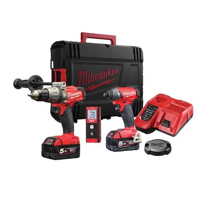 Milwaukee Power Tools M18 FPDKIT-502 FUEL™ Triple Pack 18V 2 x 5.0Ah Li-ion