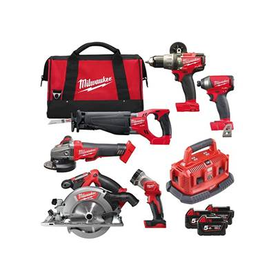 Milwaukee Power Tools M18 FPP6B-503B FUEL™ Power Pack 6 Piece Kit 18V 3 x 5.0Ah Li-ion