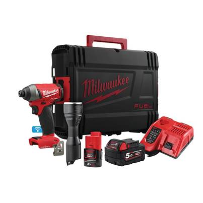 Milwaukee Power Tools M18 ONEPP2L-522X FUEL™ ONE-KEY™ Twin Pack 18V 1 x 5.0Ah  12V 1 x 2.0Ah