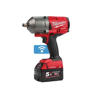 Milwaukee Power Tools M18 ONEFHIWF12-502X FUEL™ ONE-KEY™ 1/2in Impact Wrench 18V 2 x 5.0Ah Li-ion