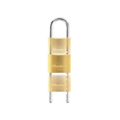 Master Lock Solid Brass 50mm Padlock with Adjustable Shackle