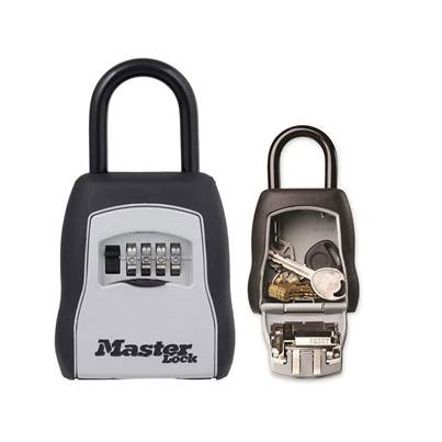 Master Lock 5400E Portable Shackled Combination Key Lock Box (Up To 3 Keys)