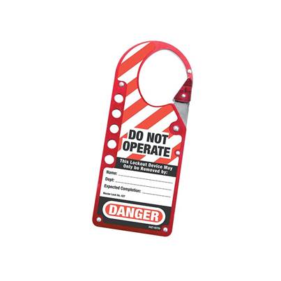 Master Lock Snap-on Hasp Lockout Labelled
