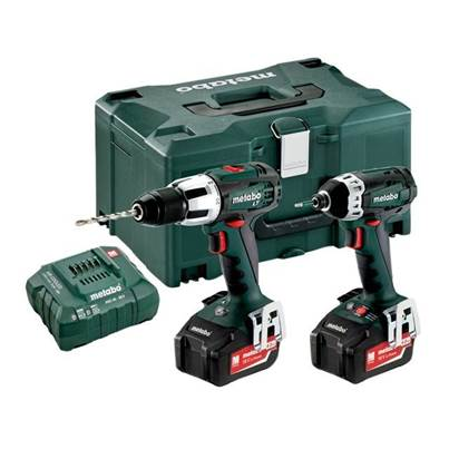 Metabo 2.1.3 Combi & Impact Driver Twin Pack 18V 2 x 4.0Ah