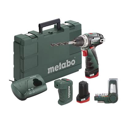 Metabo PowerMaxx BS Basic Screwdriver Set 10.8V 2 x 2.0Ah Li-ion