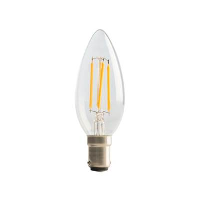 Masterplug LED Clear Candle Filament Bulb Non-Dimmable