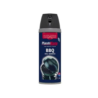 PlastiKote Twist & Spray BBQ Paint Black 400ml