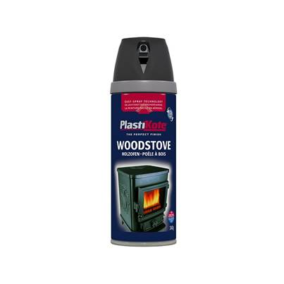 PlastiKote Twist & Spray Woodstove Paint Black 400ml