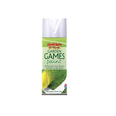 PlastiKote Garden Games Spray Paint White 400ml