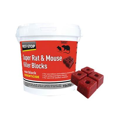 Pest-Stop Systems Super Rat & Mouse Killer Wax Blocks