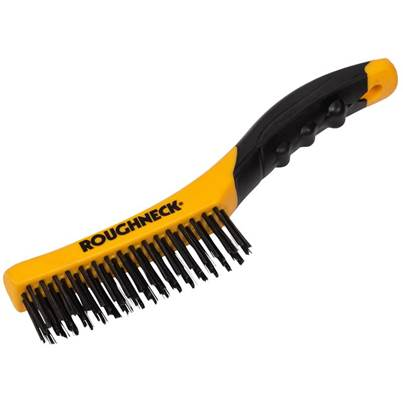 Roughneck Shoe Handle Wire Brush Soft Grip 255mm (10in)