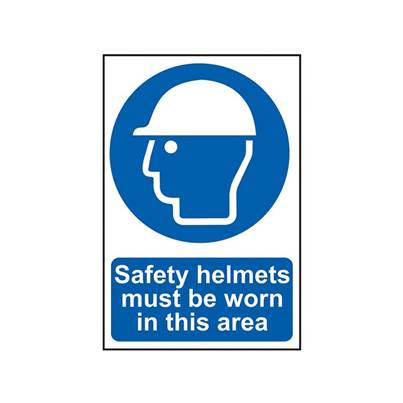 Scan Sign: Safety Helmets Must Be Worn