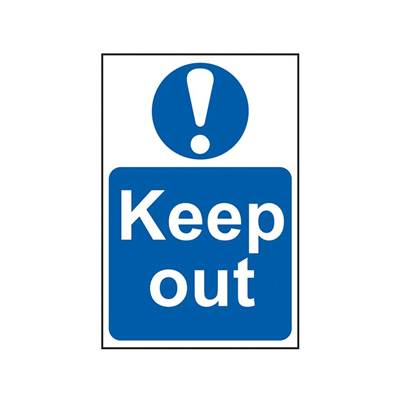 Scan Sign: Keep Out