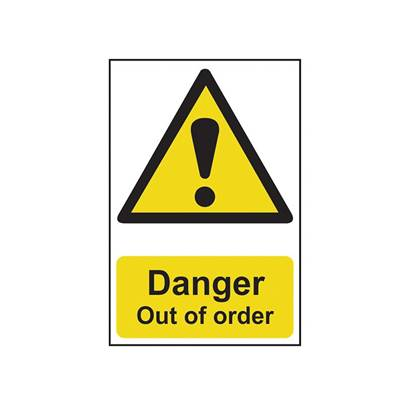 Scan Danger Out Of Order - PVC 200 x 300mm