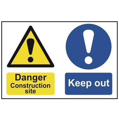 Scan Danger Construction Site Keep Out - PVC 600 x 400mm
