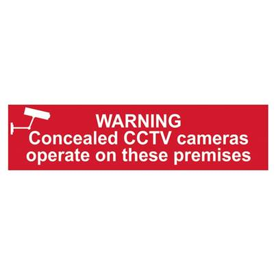 Scan Warning Concealed CCTV Cameras Operate On These Premises - PVC 200 x 50mm