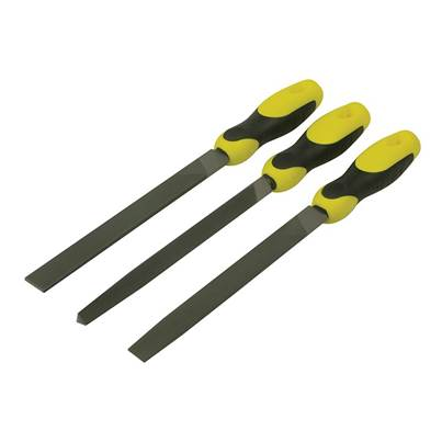 Stanley Tools File Set 3 Piece Flat   1/2 Round  3 Square 200mm (8in)