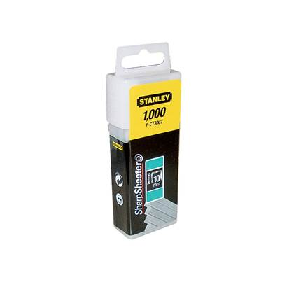 Stanley Tools Flat Narrow Crown Staples