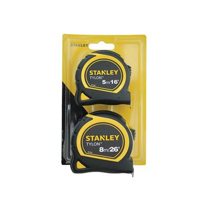 Stanley Tools Tylon™ Pocket Tapes 5m/16ft + 8m/26ft (Twin Pack)