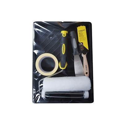 Stanley Tools Roller & 1.5in Max Finish Brush Set, 6 Piece