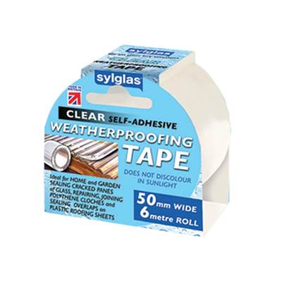 Sylglas Clear Weatherproofing Tape 50mm x 6m Roll